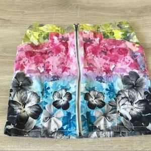COPY - Floral Denim Skirt